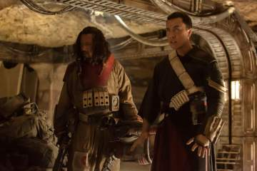 Rogue One A Star Wars Story - Wen Jiang as Baze Malbus, Donnie Yen as Chirrut Imwe