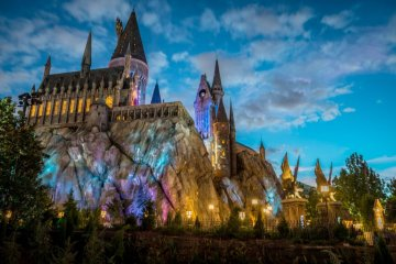 Wizarding World of Harry Potter at Night