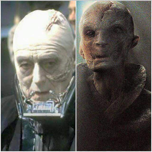 Snoke / Darth Vader Comparison