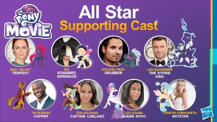 My Little Pony Movie Supporting Cast